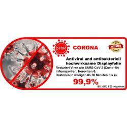 Neoxum Anti-Corona Folie ist dauerhaft hochwirksam gegen Viren SARS-CoV-2 aber auch gegen Bakterien, wie Staphylococcus aureaus